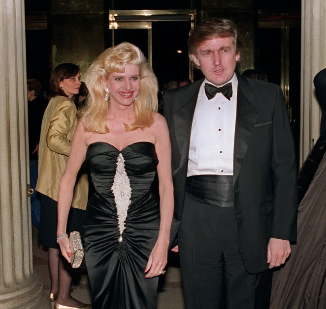 Ivana and Donald together at a high-society ball in New York in 1989