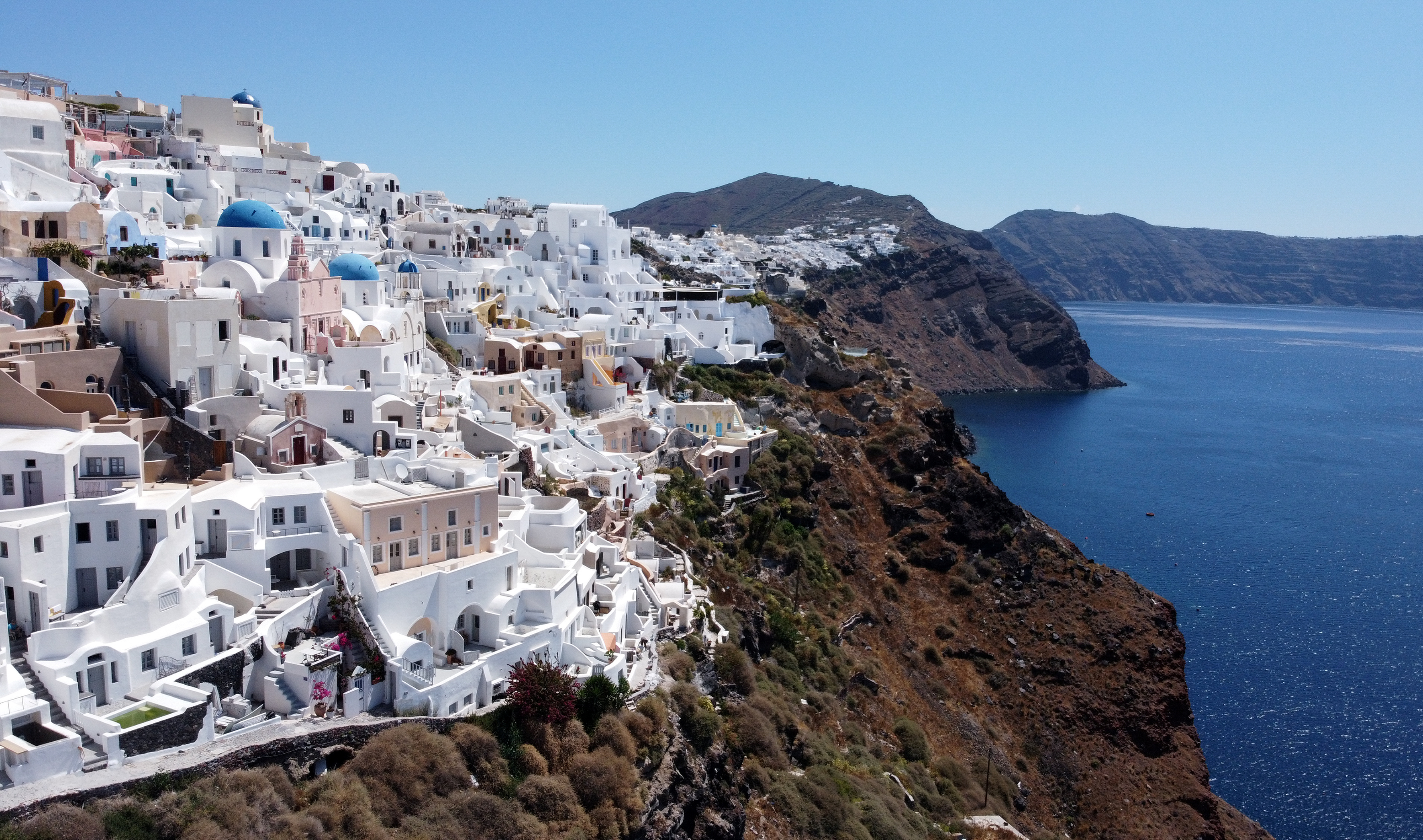 Other islands such as Santorini are on the safe list now