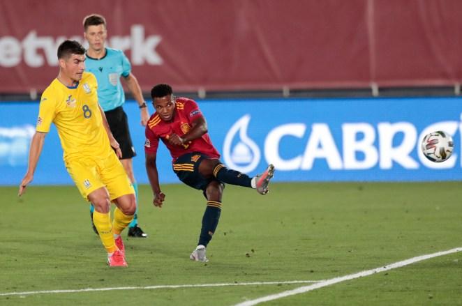 Ansu Fati became Spain's youngest ever goalscorer against Ukraine