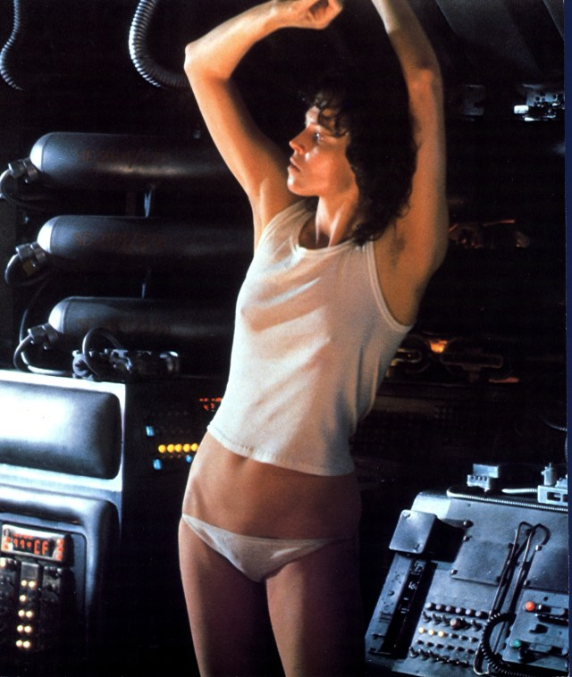 Sigourney's unconsciously sexy role as Ripley in 1979 sci-fi Alien put her on Hollywood's A-list