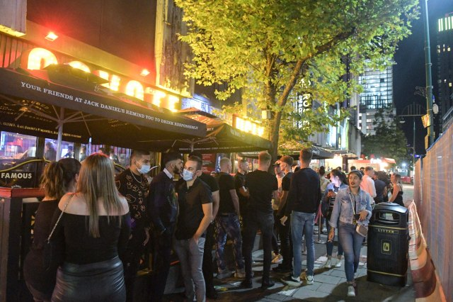 Birmingham was heaving with youngsters who waited outside bars and restaurants