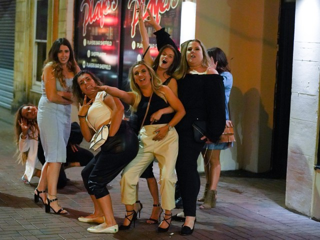 These ladies in Sheffield got together for one last knees up before Monday's restrictions