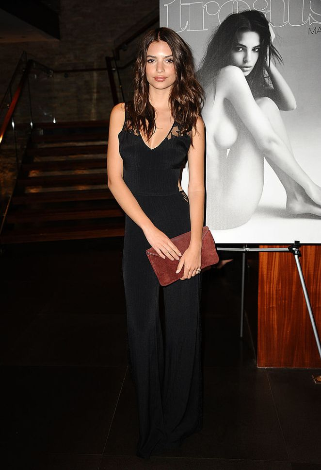 Emily Ratajkowski attends the Treats! Magazine spring issue launch party, 2012, in Beverly Hills, California