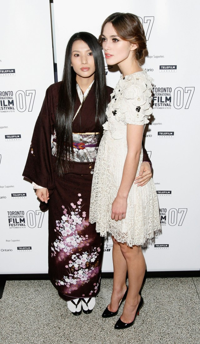 Ashina with Keira Knightley her co-star in the 2007 film, Silk
