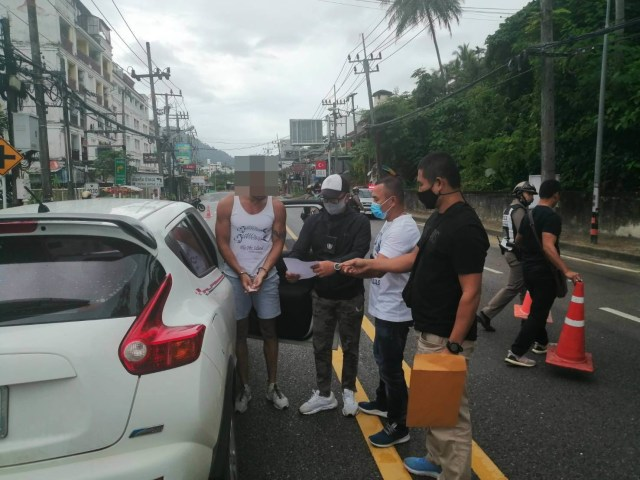 Following a dramatic police chase on Tuesday afternoon, the suspect was arrested by cops in Thailand