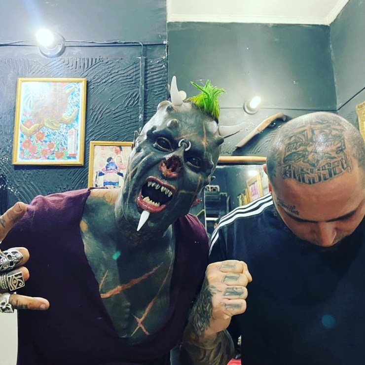 Tattoo freak chops off his NOSE to turn himself into a 'human Satan' in  weird new bodymod craze