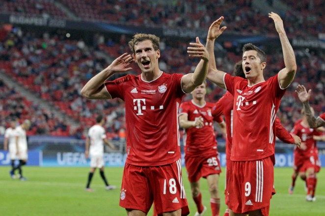 Leon Goretkza fired in Bayern's equaliser with 34 minutes on the clock