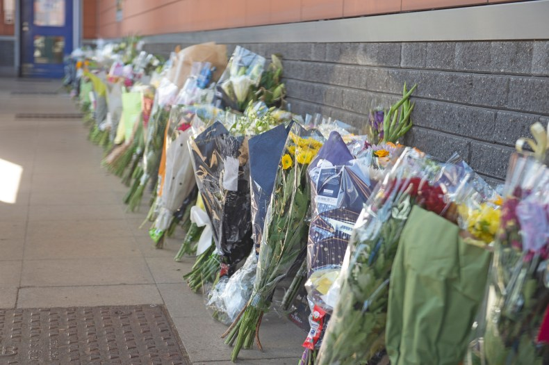 Flowers left for tragic cop Matt Ratana