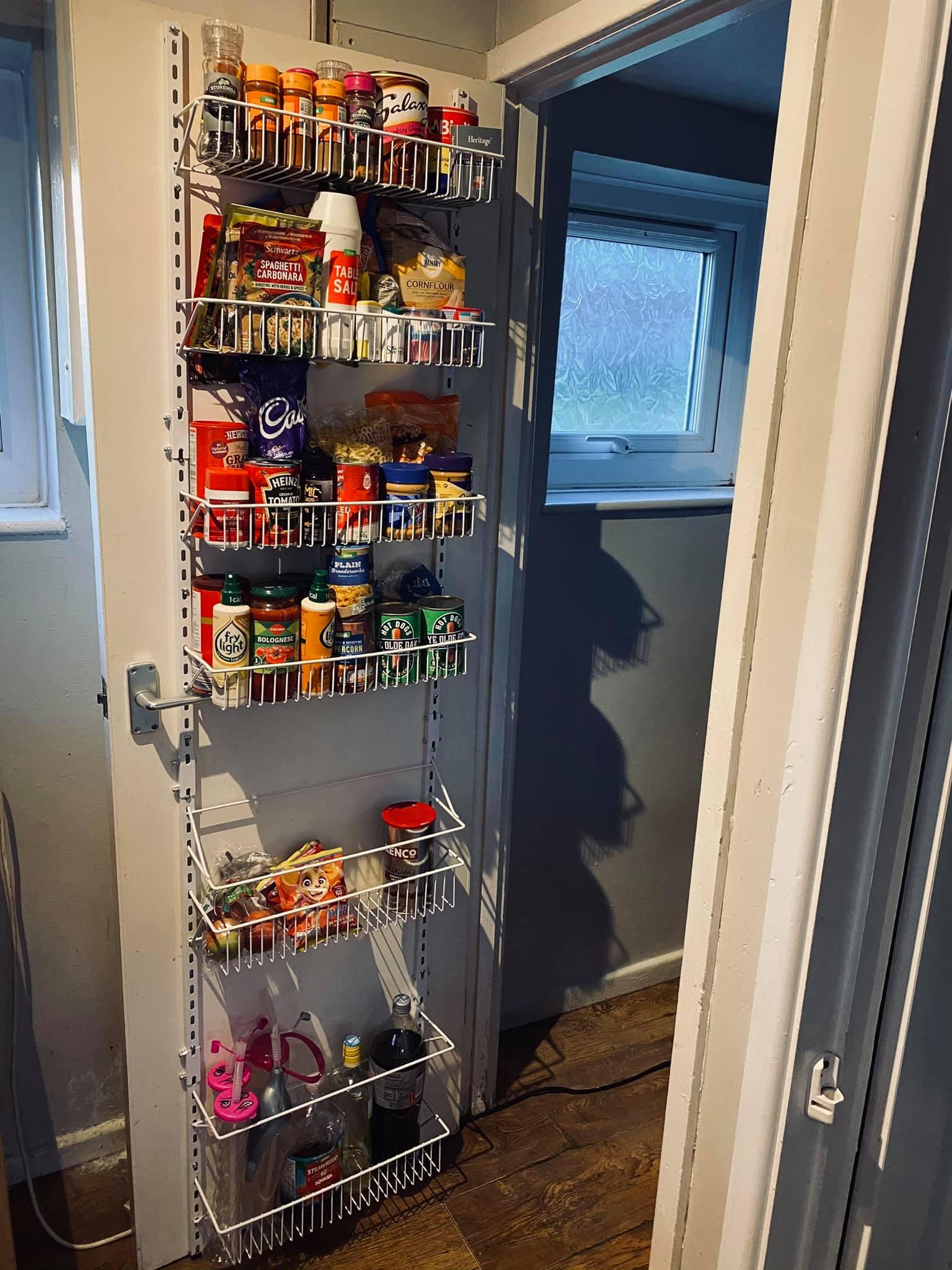 cupboard door storage