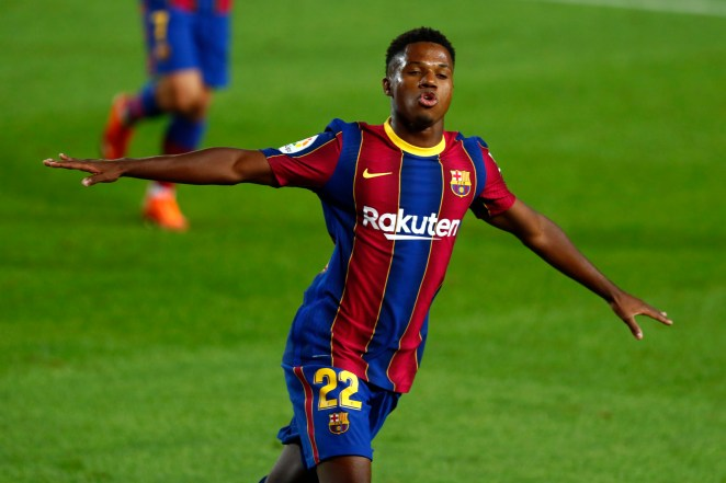 Ansu Fati started the 2020-21 campaign in style, scoring a first half double against Villarreal