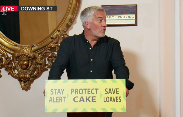 Judge Paul Hollywood poses as one of the Prime Minister's advisers
