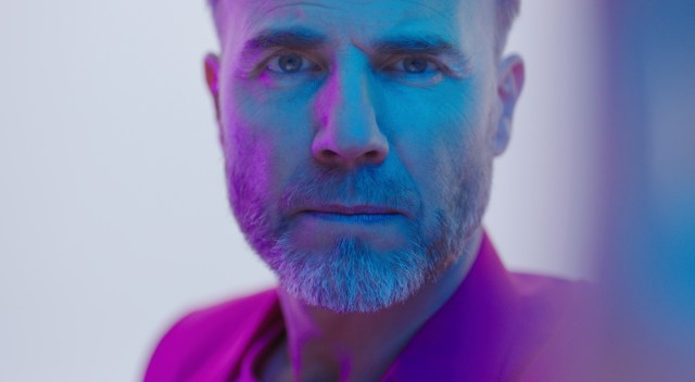 Gary Barlow in the video for his new track with Michael Buble, Elita