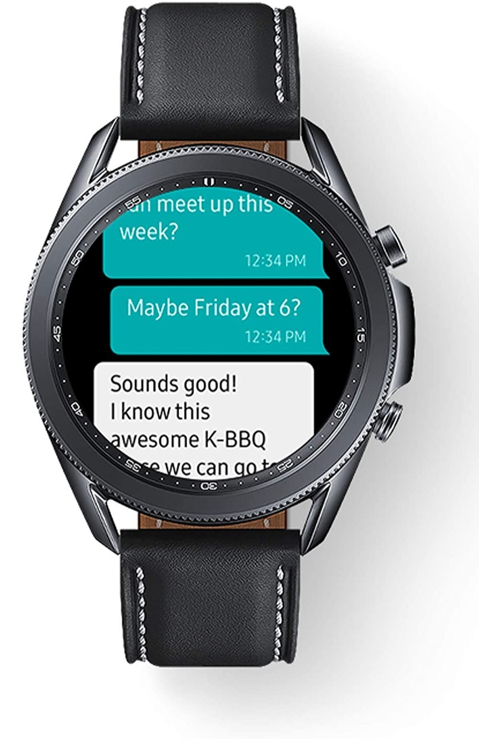 The watch allows you to answer messages from your wrist