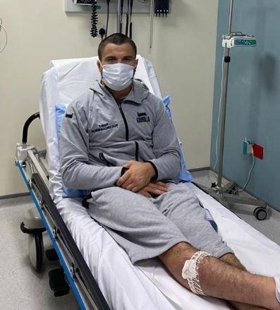 Umar Nurmagomedov pictured in hospital in Dubai