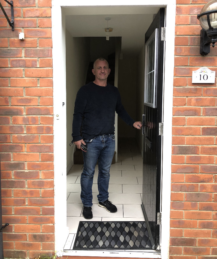 Single dad Brandon Woodhouse sacrificed time with his kids to work seven days a week to help get on the property ladder at the age of 47