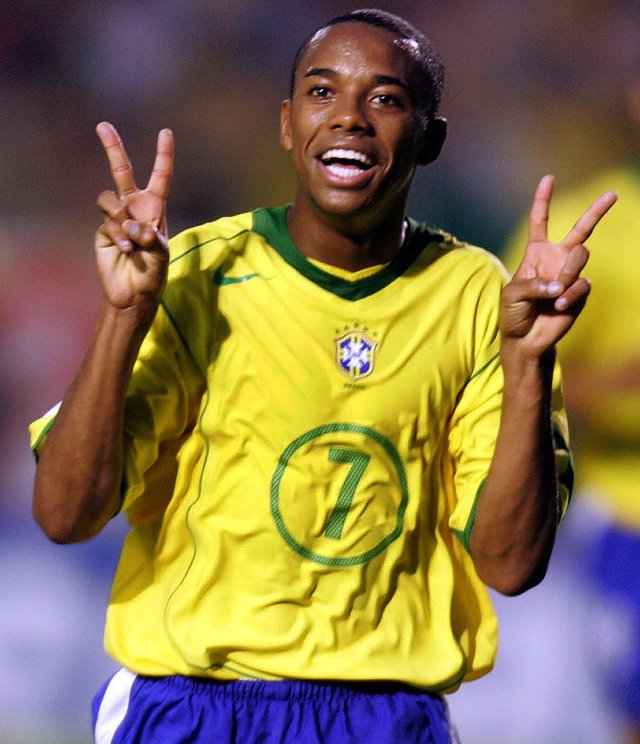 Robinho, who collected 100 Brazil caps, was once declared Pele's heir apparent