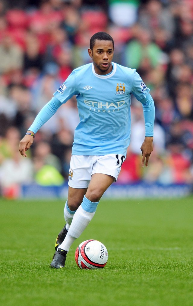 Robinho during his time at Man City where he was once their record signing