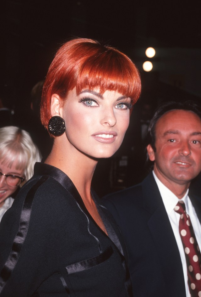 Original supermodel Linda Evangelista with then-husband Gerald Marie in the Nineties