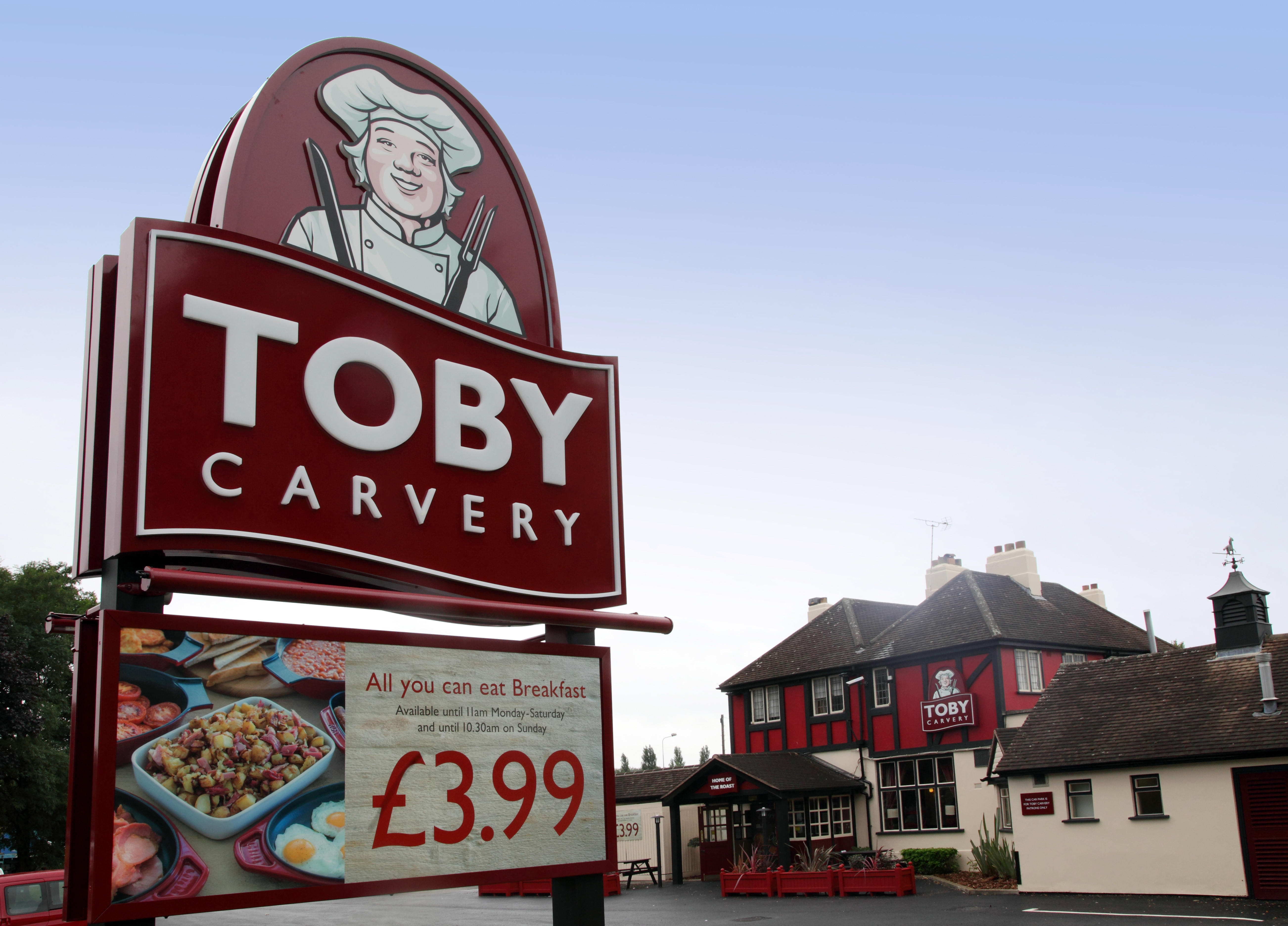 Parents visiting Toby Carvery can get a kids meal for £1 with the purchase of any adult main