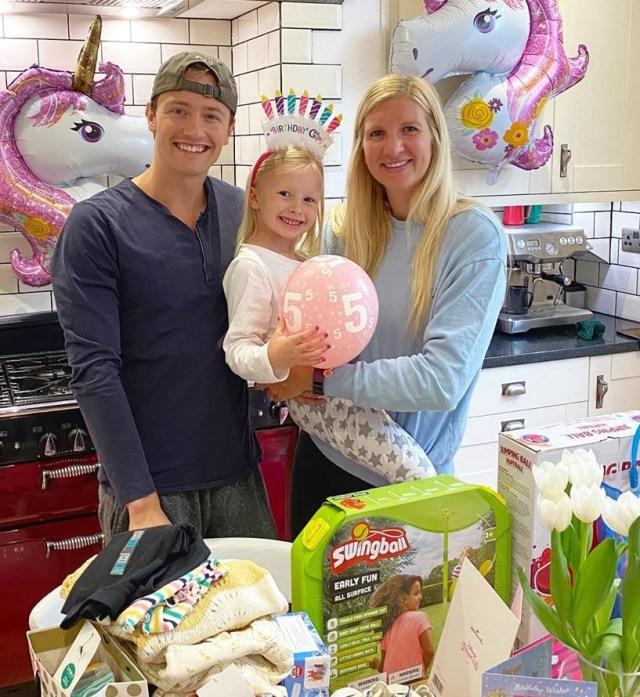 Rebecca celebrated daughter Summer's fifth birthday alongside her ex husband