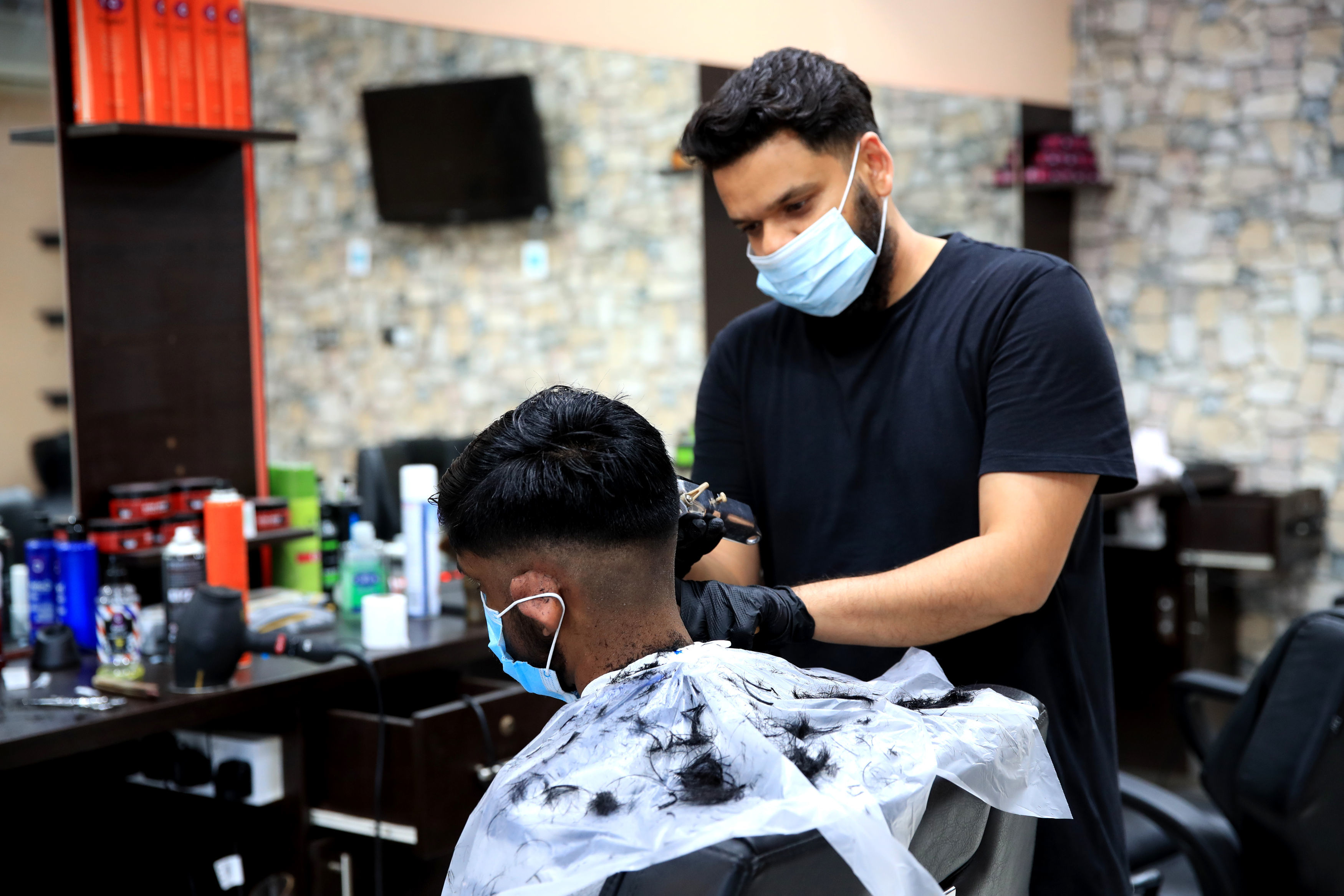 Hairdressers and barbers are among businesses set to close from tonight