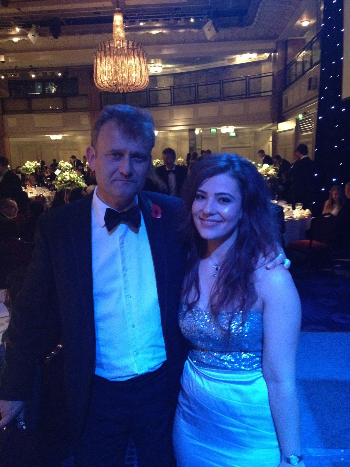Simona, pictured with actor Hugh Dennis, says she feels like a different person since the cavernoma was removed