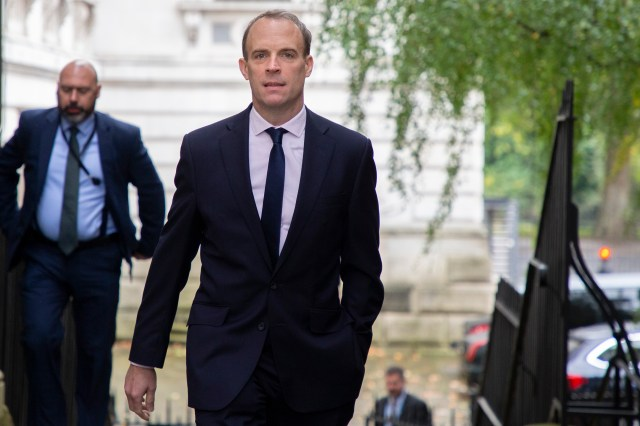 Dominic Raab said Britain stands alongside France