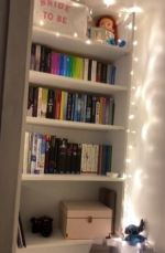 Woman creates stunning secret library nook in her bedroom and it only cost £30