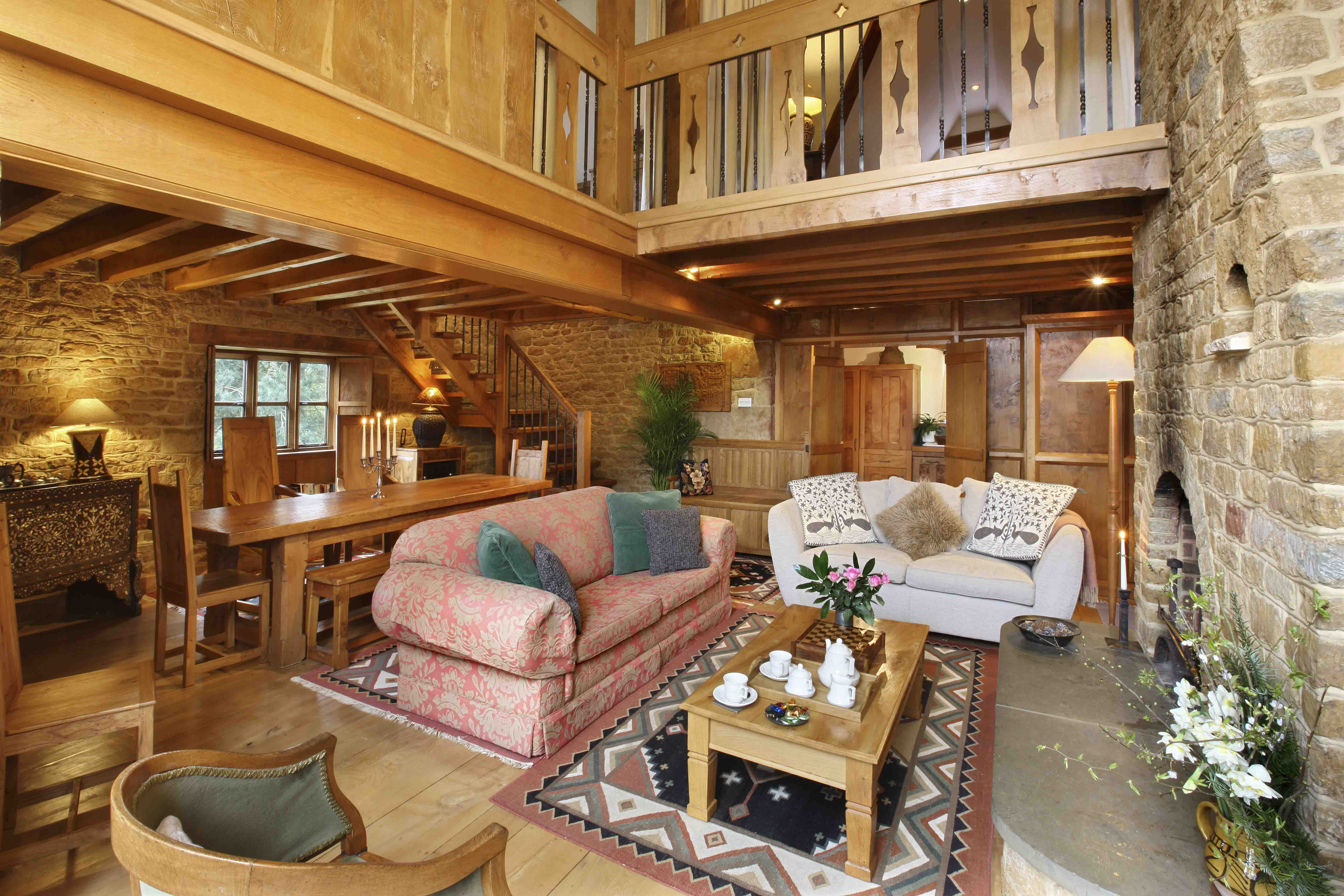 Heath Farm Holiday Cottages is filled with furniture and fittings made by local craftsmen in English hardwoods