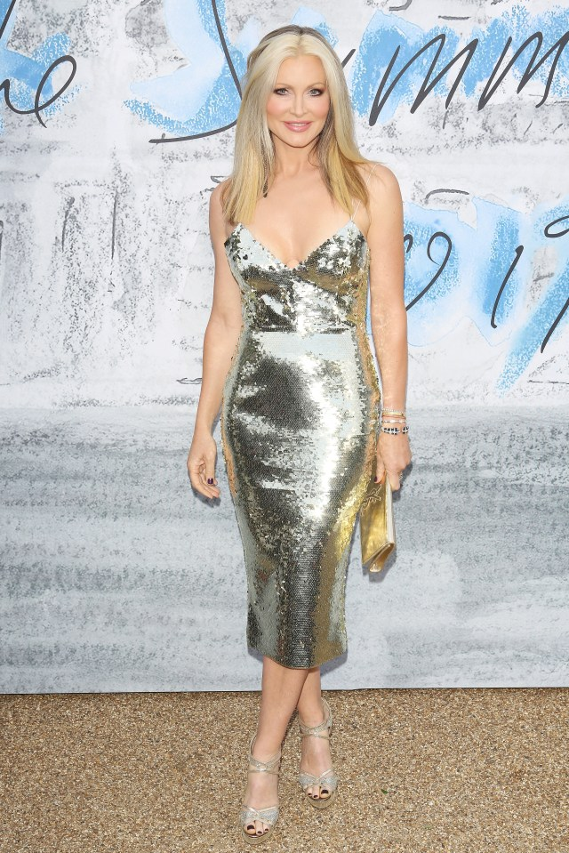 The US model often opts for sparkly frocks