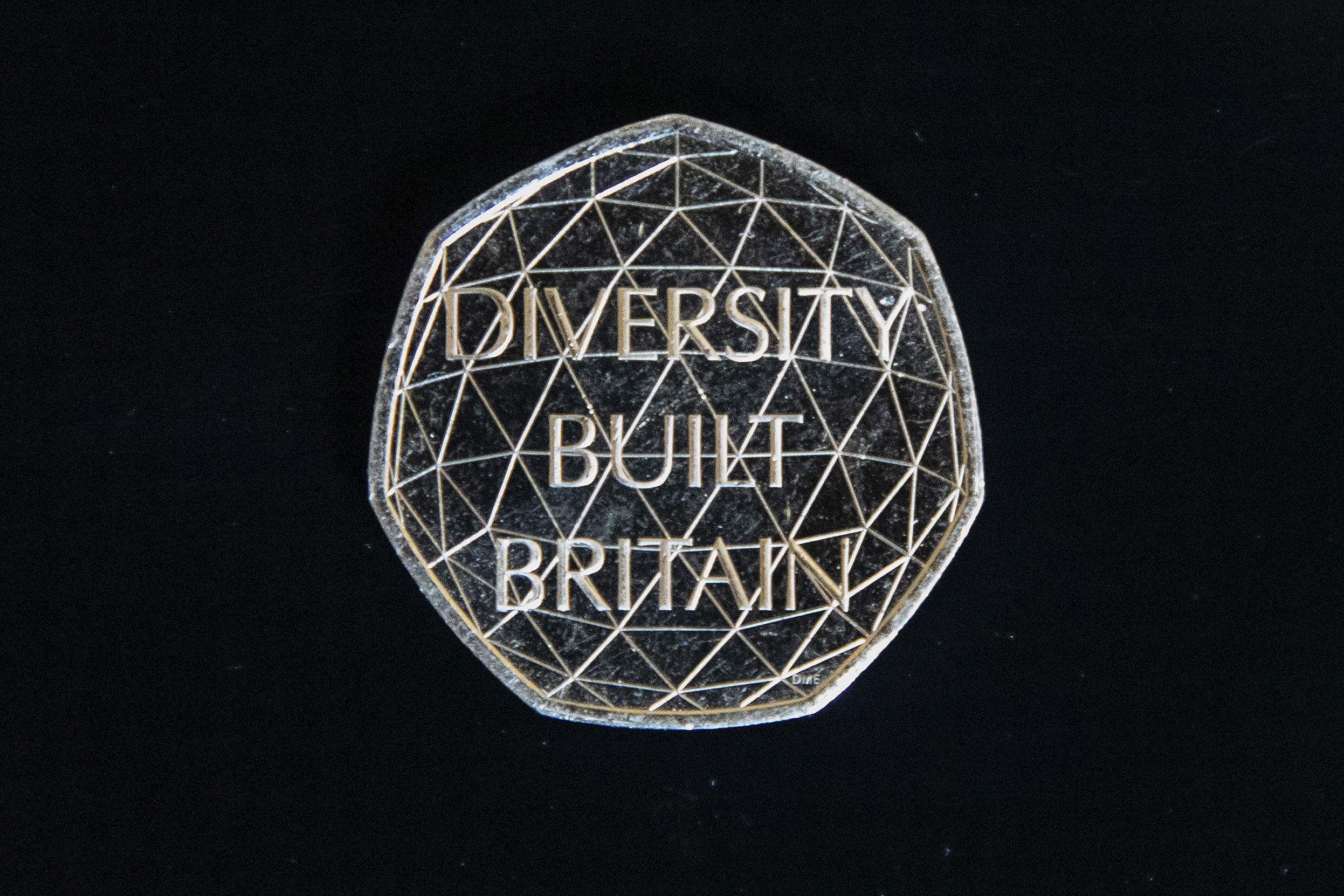 The new 'Diversity built Britain' coin will go into circulation on Monday