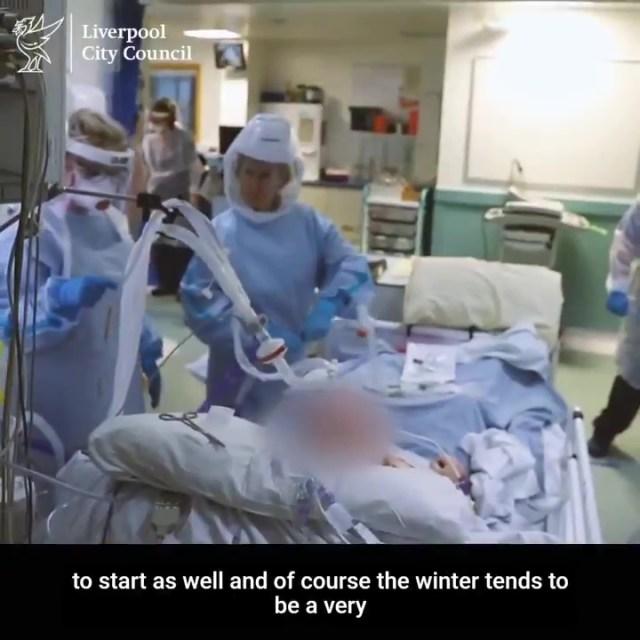Mr Anderson had shared footage of hero medical staff treating patients on a hospital Covid ward