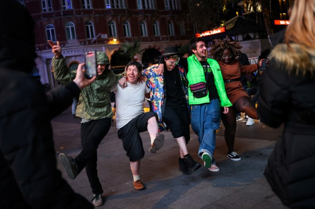 Revellers made the most of their final night of freedom