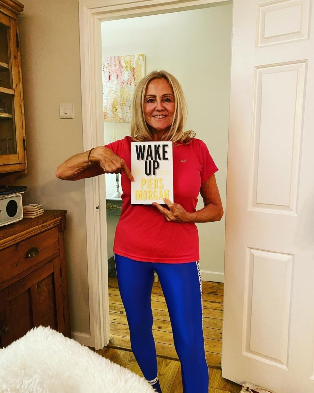 Katie surprised her mum with a copy of her man crush Piers Morgan's book Wake Up