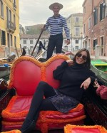 Melanie Sykes, 50, shares passionate kiss with gondolier, 23, during six-day fling