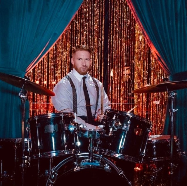 Strictly Come Dancing's Neil Jones, 38, jumped behind the drums during Saturday night's premiere