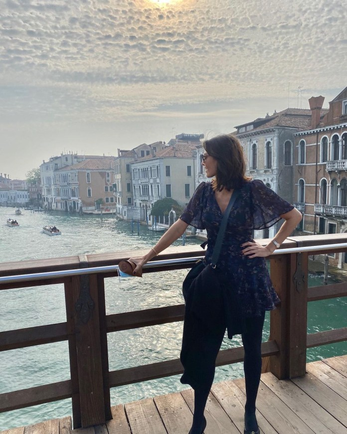 She hit the Italian town for a well-deserved relaxing vacation