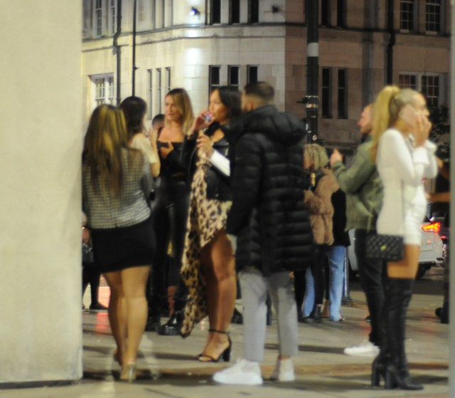 Revellers were seen enjoying themselves and dancing and drinking in the streets