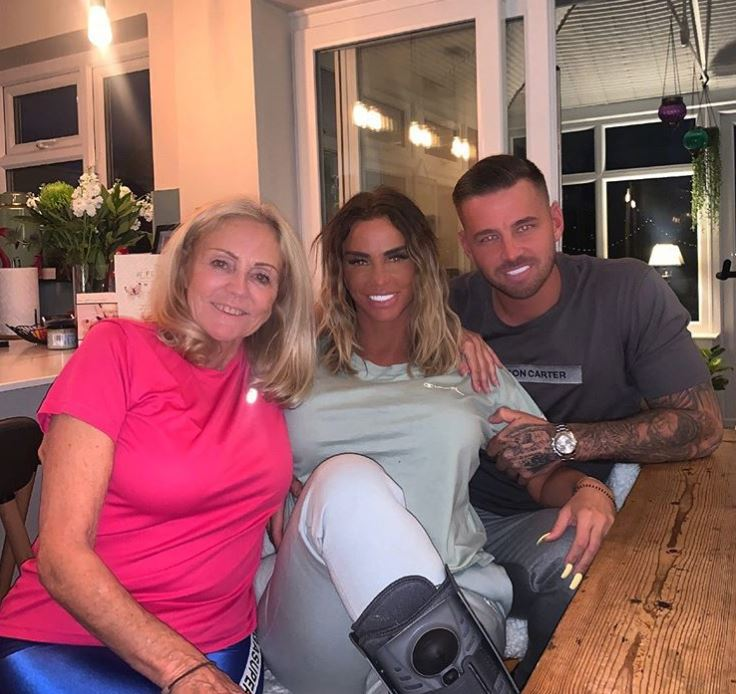 Katie Price sparks rumours she's married Carl Woods in secret as he calls her mum his 'Mother in Law'