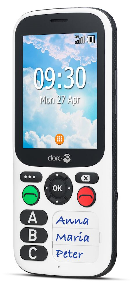 The Doro 780X has three speed dial options as well as an SOS button