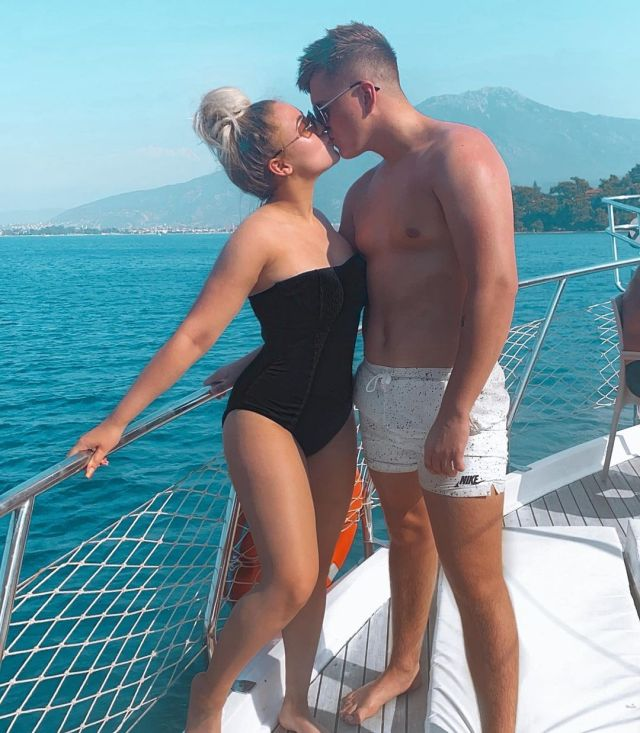 The couple on holiday