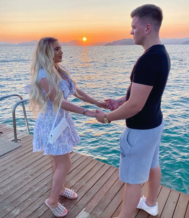 Jordan and Georgia on their engagement