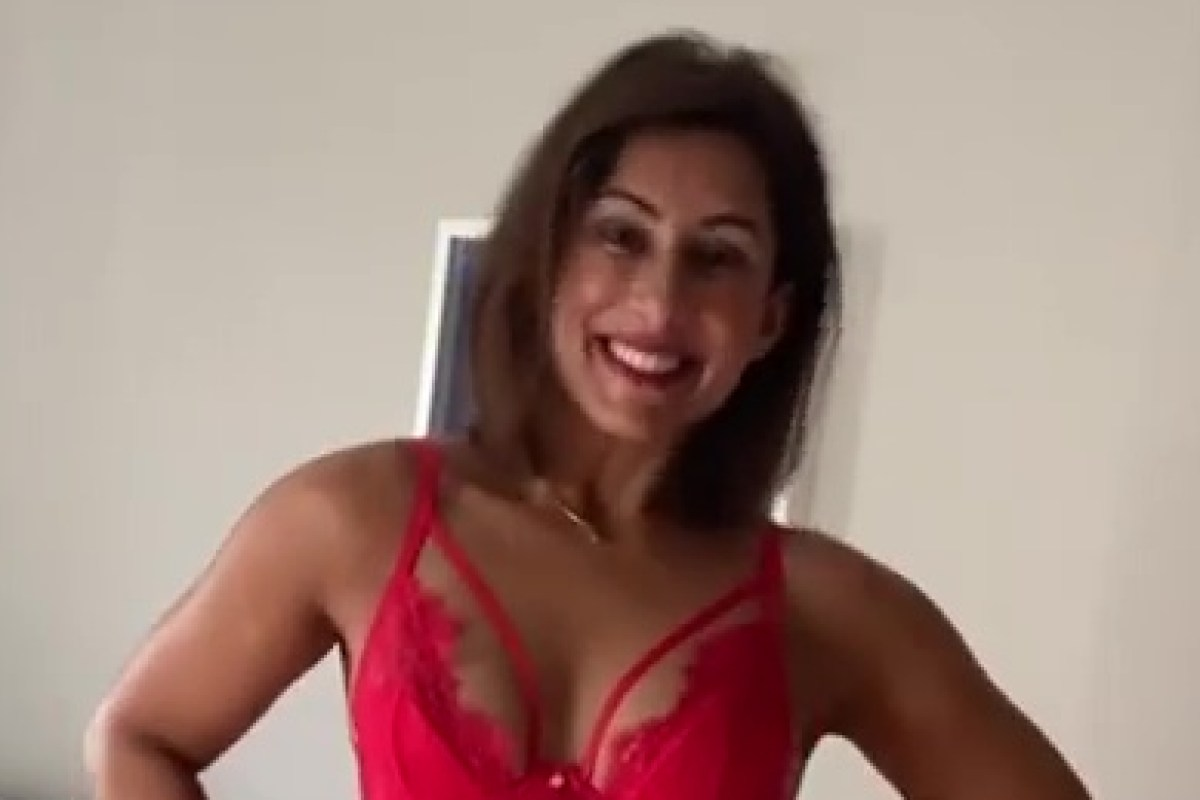 Saira Khan, 50, strips to red lingerie to celebrate 'passion, heat & sexuality'