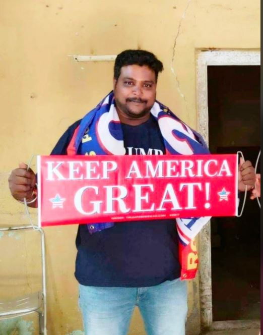 Bussa Krishna claimed he was worshipping Trump for the good of India