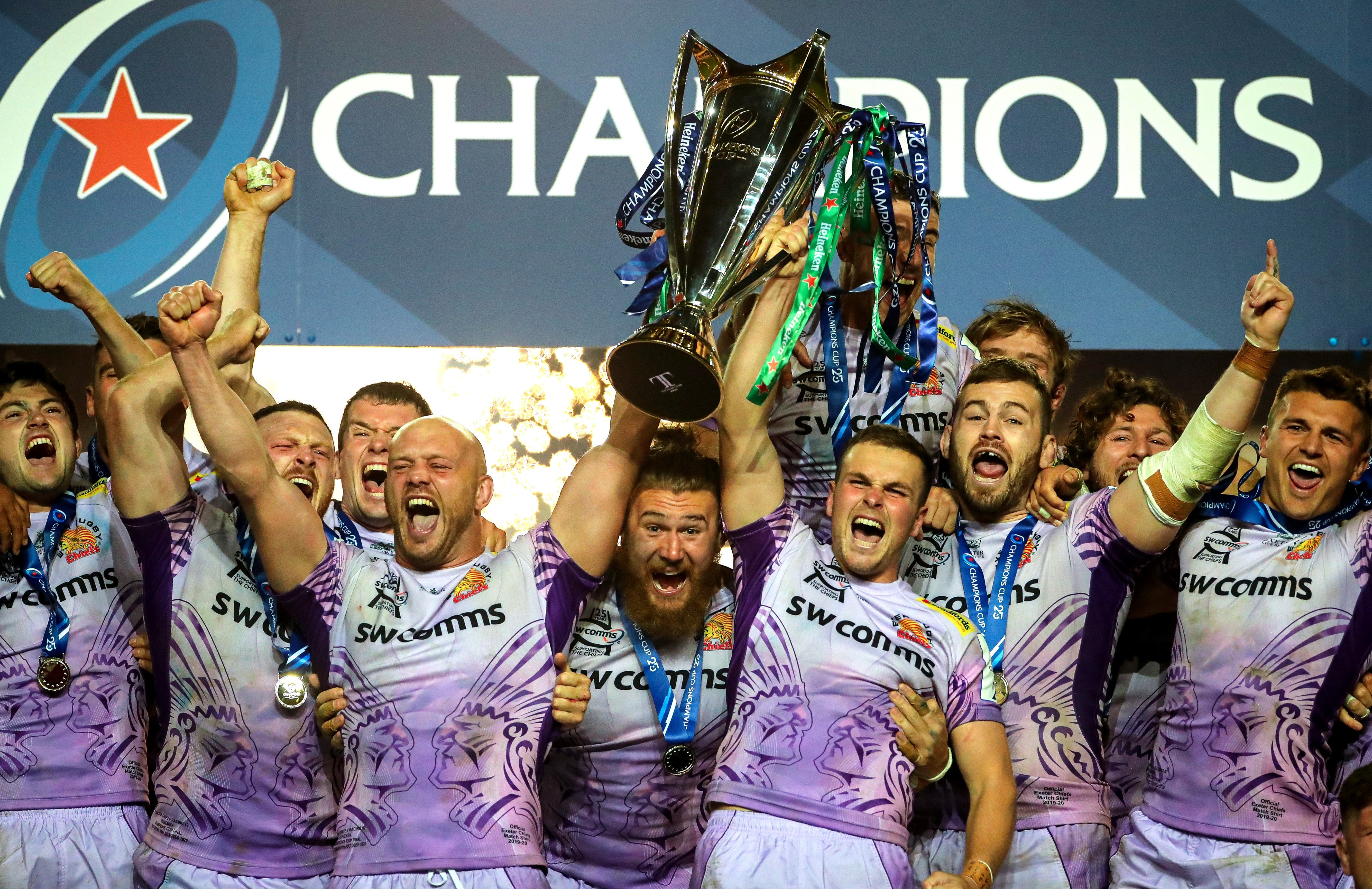 Exeter Chiefs 31 Racing 92 27: Devon misfits lift Champions Cup in dramatic finish after fairytale rise