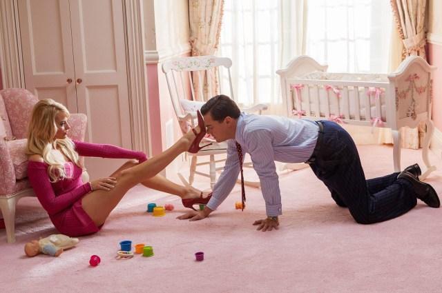 Margot Robbie stars alongside Leonardo DiCaprio in Wolf of Wall Street