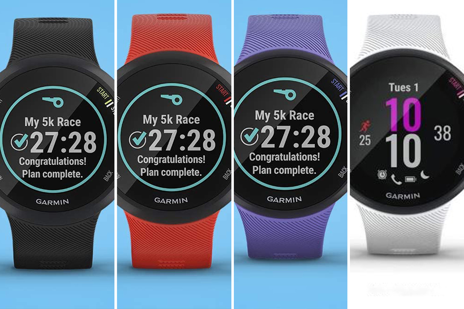 Garmin's Forerunner Running Watch comes in four colours