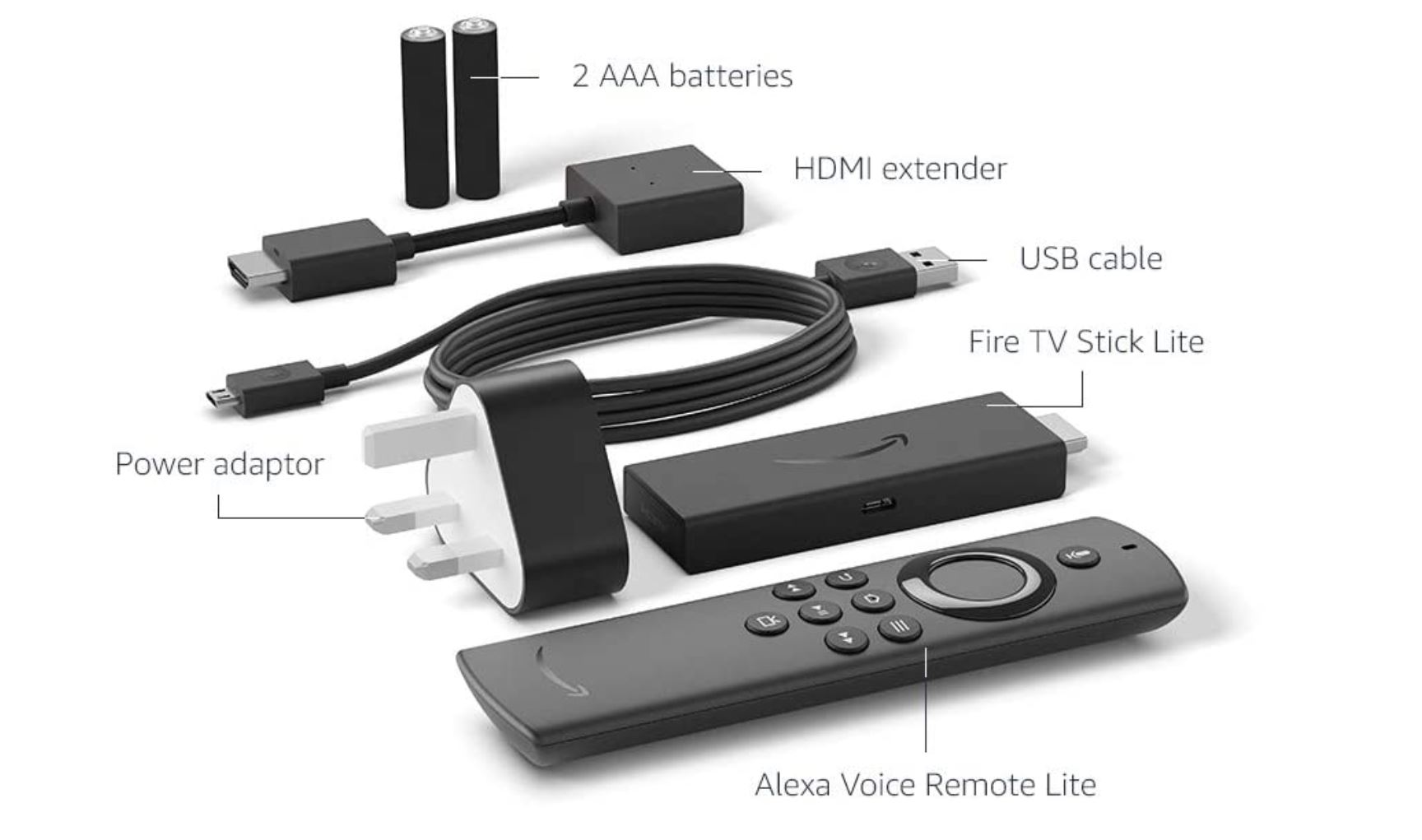 You get everyting you need with the Fire TV Stick Lite