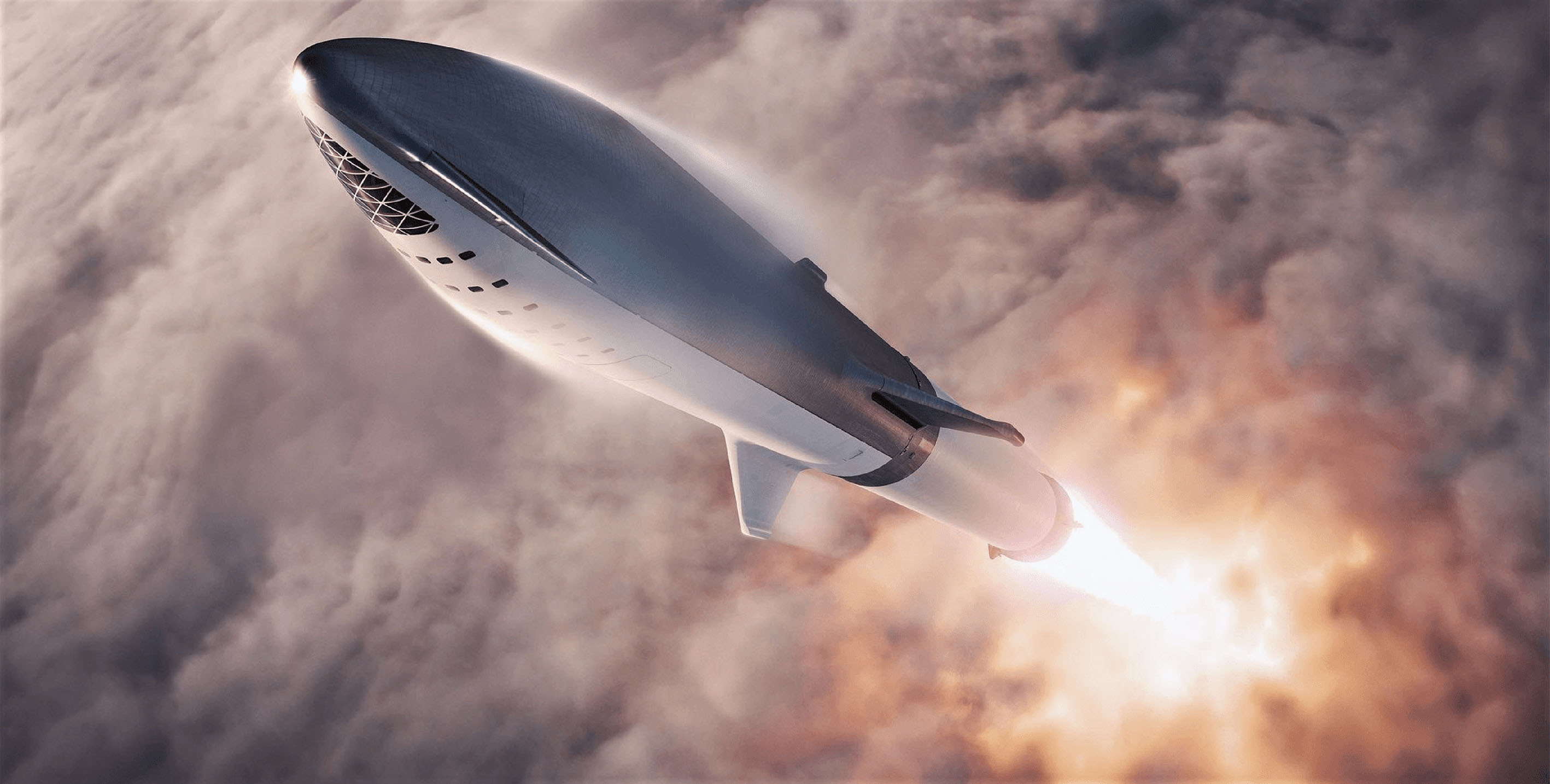 The finished product will stand 165ft (50 metres) tall and boast six of SpaceX's powerful Raptor engines