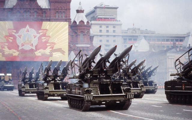 Russia celebrates the 40th anniversary of the end of World War II with a military parade in 1985